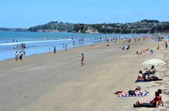 Orewa beach new zealand Stock Photos