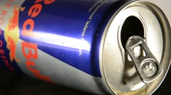 Red Bull can Stock Footage