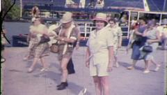 Tour Group Hawaii Tourist Vacation Beach Vintage Film Home Movie Retro 8156 Stock Footage