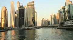 A view of the Dubai Marina Stock Footage