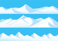 Stock Illustration of Winter mountains