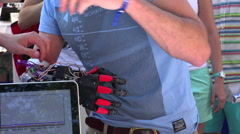Stock Video Footage of Electronic prosthetic arm.