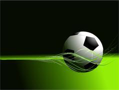 Football background - stock illustration