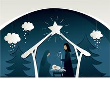 Nativity scene Stock Illustration