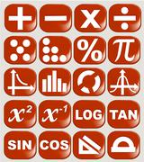 Math related symbols - stock illustration