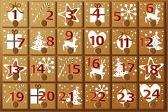 Advent calendar - stock illustration