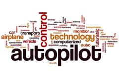 Autopilot word cloud Stock Illustration
