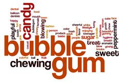 Stock Illustration of bubble gum word cloud
