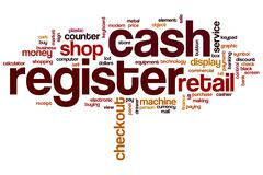 Cash register word cloud Piirros