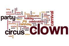 clown word cloud - stock illustration