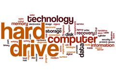 Stock Illustration of hard drive word cloud