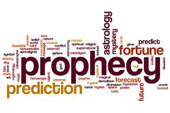 Stock Illustration of prophecy word cloud