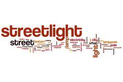 Streetlight word cloud Stock Illustration