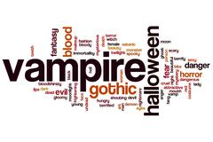 vampire word cloud - stock illustration