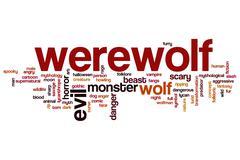 Werewolf word cloud Piirros