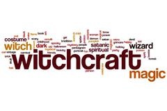 witchcraft word cloud - stock illustration