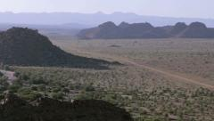 Pan over Damaraland Panorama, Namibia Stock Footage