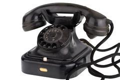 Old retro telephone Stock Photos