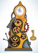 time machine - stock illustration