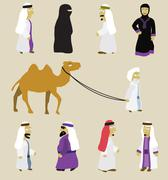 Stock Illustration of arabian people