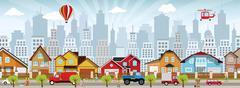 city life - stock illustration