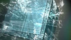 Computer code program digital background Stock Footage
