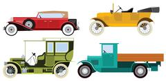 classic cars - stock illustration