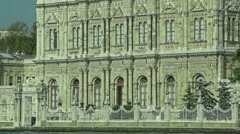 Dolmabahce palace entrance from the sea Stock Footage