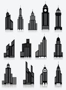 Skyscrapper icons Stock Illustration