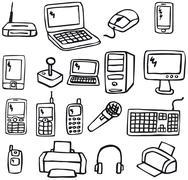 Icons - electronics  Stock Illustration