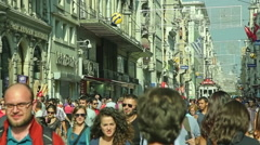 Istiklal Avenue in Istanbul Stock Footage