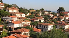 Sirince Houses, Selcuk. Izmir, Turkey Stock Footage