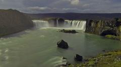 Godafoss waterfall Stock Footage