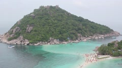 View Point With Beautiful Coastline on Koh Tao Island, Thailand Stock Footage