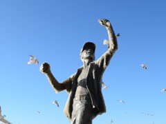 Fisherman and seagulls. Related clips are in my portfolio in 1920x1080. Stock Footage