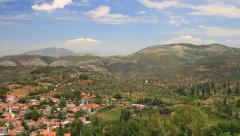 Sirince village, surrounded by olive groves, peach orchards and vineyards Stock Footage