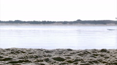 Algarve Fuseta Ria Formosa Kayak Paddle  E - stock footage