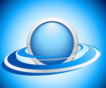 Abstract icon in blue color Stock Illustration