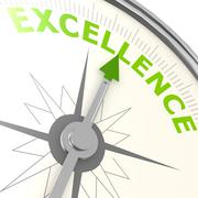 excellence compass - stock illustration