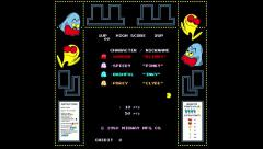 Pac Man - Realtime play with authentic bezel Stock Footage