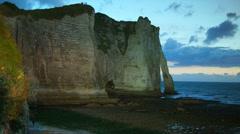 Cliffs at Cote d'Albatre,Etretat, France, Normandy, time lapse, Stock Footage