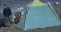 Wyoming Lake Camping 16mm 60s Arkistovideo