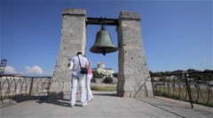 SIGNAL BELL CATHEDRAL CHERSONES SEVASTOPOL CRIMEA Stock Footage