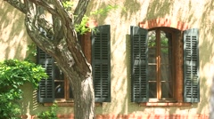 WINDOW, SHUTTERS, FRANCE - stock footage