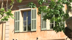 FRENCH WINDOWS AND SHUTTERS, AIX EN PROVENCE, FRANCE Stock Footage
