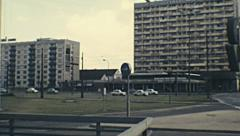 Dresden 1972: traffic in the street Stock Footage