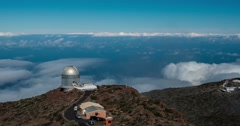 4k time lapse, la palma, observatories Stock Footage