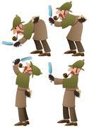 Detective Set Stock Illustration