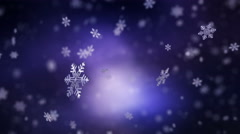 Falling snowflakes background. Loopable - stock footage