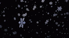 Falling snowflakes background. Loopable and with alpha matte Stock Footage